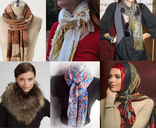 Мода на платки шарфы