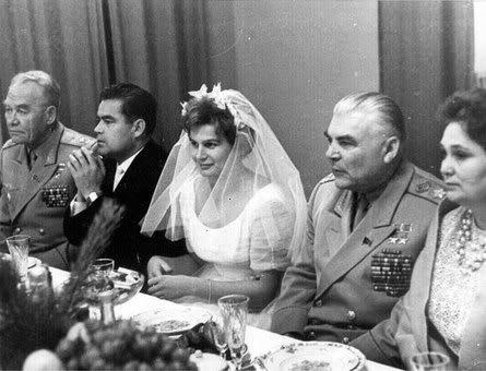 Валентина Терешкова и Андриан Николаев